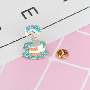 Merchandise Pin Elephant Fountain Enamel Brooch