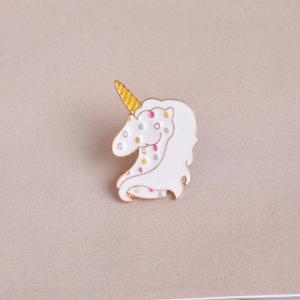 Merchandise Pin Fairy Unicorn White Enamel Brooch
