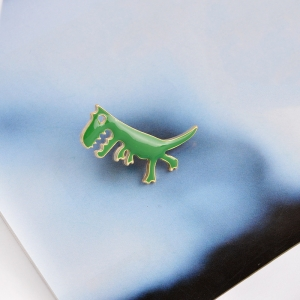 Merchandise Pin Little Dinosaur Green Enamel Brooch