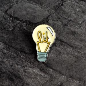 Merchandise Pin Lit Light Bulb Enamel Brooch