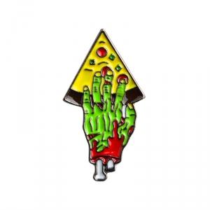 Merch Pin Pizza For Zombie Enamel Brooch