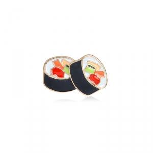 Merchandise Pin Rolls Sushi Food Enamel Brooch