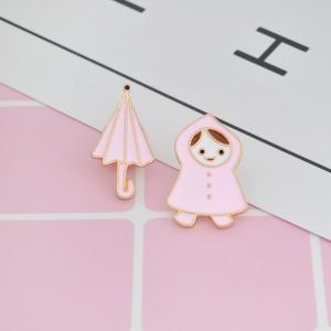 Merchandise Pin Set Girl With An Umbrella Enamel Brooch