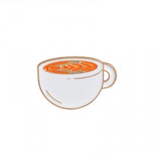 Collectibles Pin Energy Tea Cup Enamel Brooch
