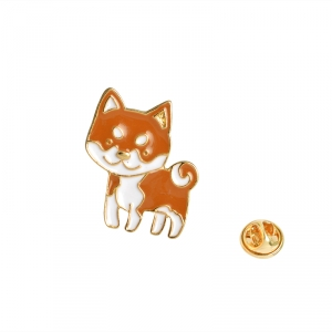 Merchandise Pin Shiba Inu Dog Enamel Brooch