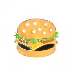 Merchandise Pin Hamburger Enamel Brooch