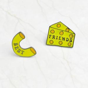 Merchandise Pin Set Best Friends Cheese Enamel Brooch