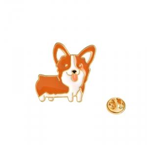 Merchandise Pin Welsh Corgi Dog Enamel Brooch
