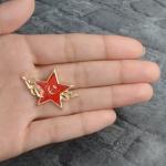 Collectibles Pin Soviet Star Red Enamel Brooch