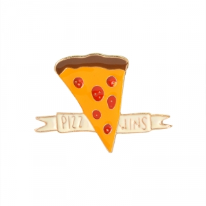 Merchandise Pin Pizza Wins Food Enamel Brooch