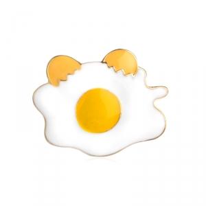 Merchandise Pin Fried Eggs Food Enamel Brooch