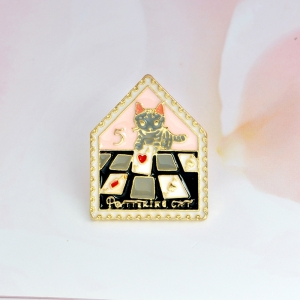 Collectibles Pin Pottering Cat Cards Enamel Brooch