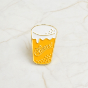 Collectibles Pin Cheers Drink Enamel Brooch