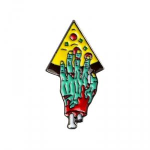 Merch Pin Zombie Pizza Green Enamel Brooch