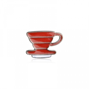 Collectibles Pin Coffee Cup Red Enamel Brooch