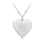 Merchandise Necklace I Love You Silver Heart
