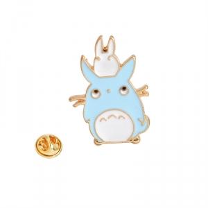 Merchandise Pin Blue And White My Neighbor Totoro Enamel Brooch