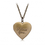Collectibles Necklace I Love You Bronze Heart