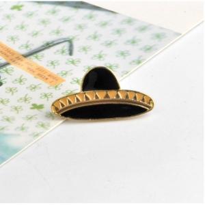 Merchandise Pin Sombrero Black Hat Enamel Brooch