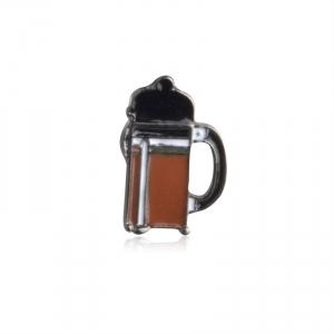 Collectibles Pin Coffee Press Enamel Brooch