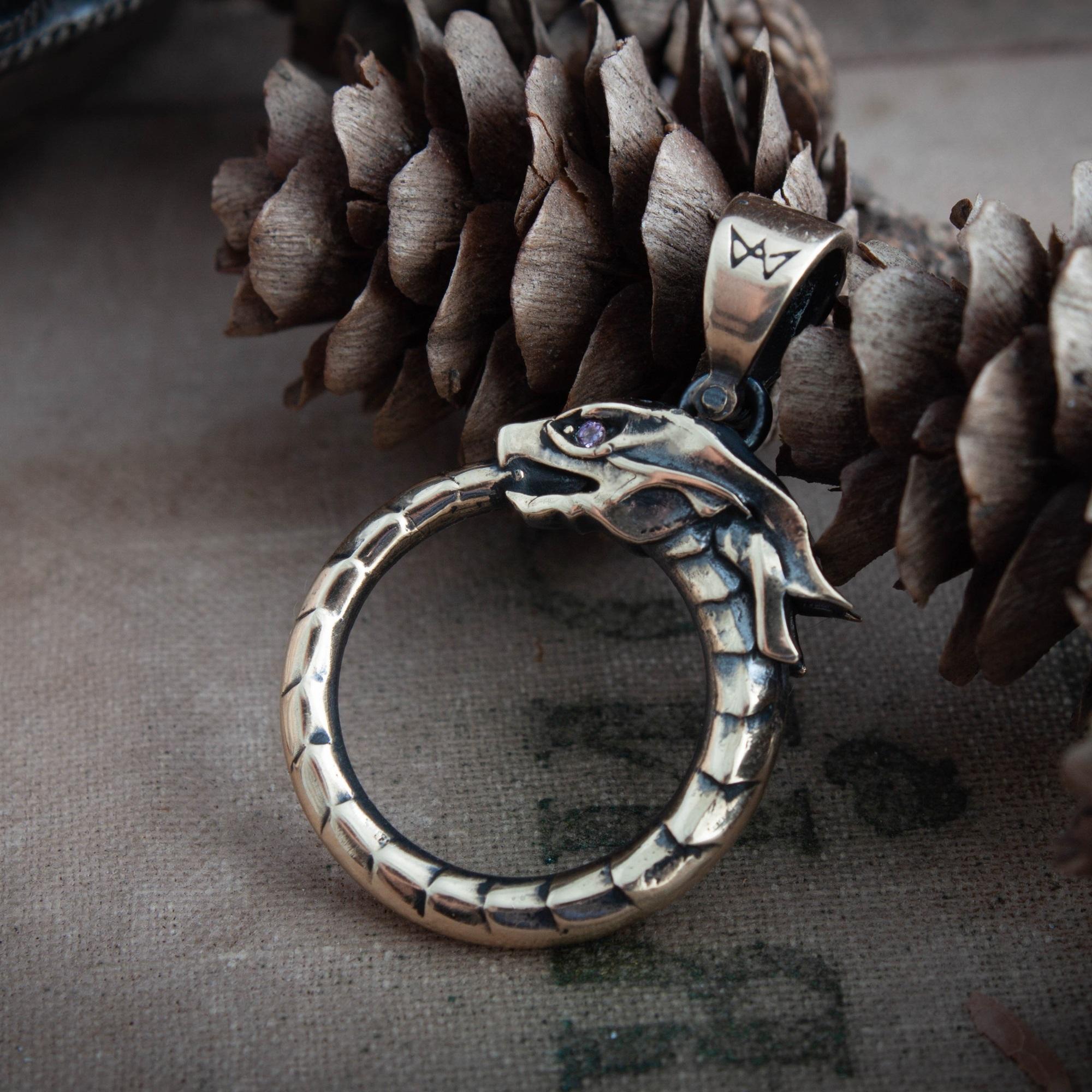 Merchandise Ouroboros Pendant Serpent Mythology Necklace