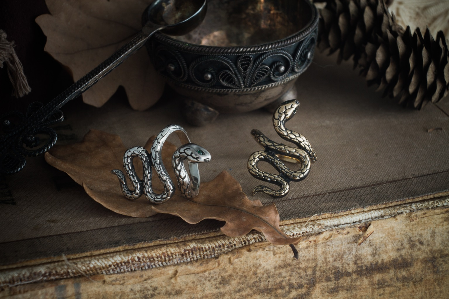 Merch Viper Ring Snake Mystic Serpent Art