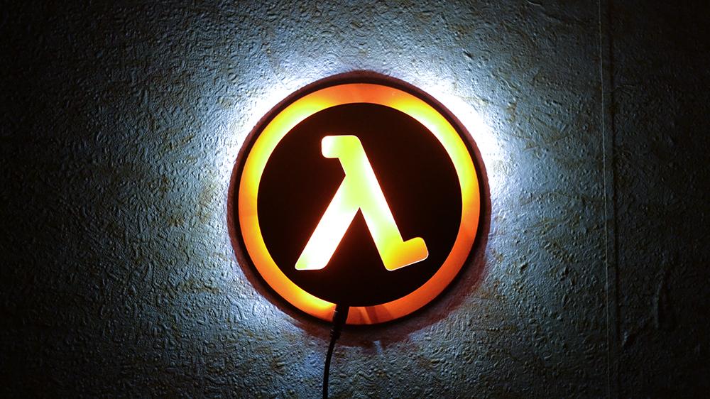 Collectibles Night Light Half Life Game Lamp Logo