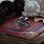 Merch Handmade Ring With Snake Mystic