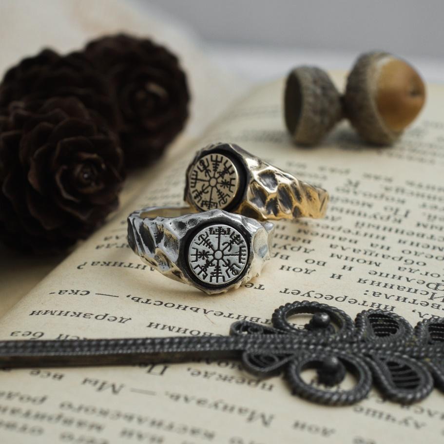 Collectibles Vegvisir Ring Vikings Compass Norse Mythology