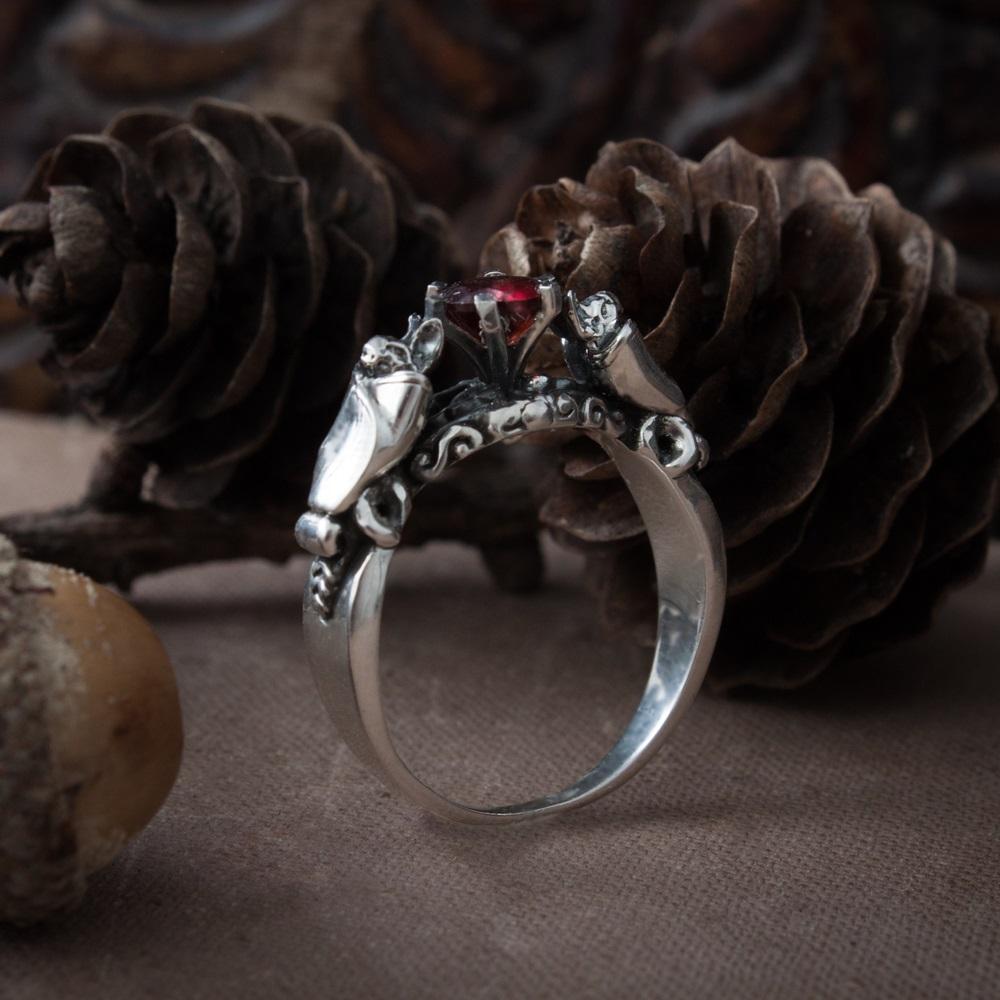 Merch Gothic Ring Bat Mystic Handmade