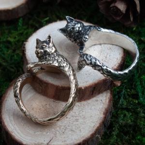 Merchandise Wise Cat Ring Jewellery Animals Hanmade