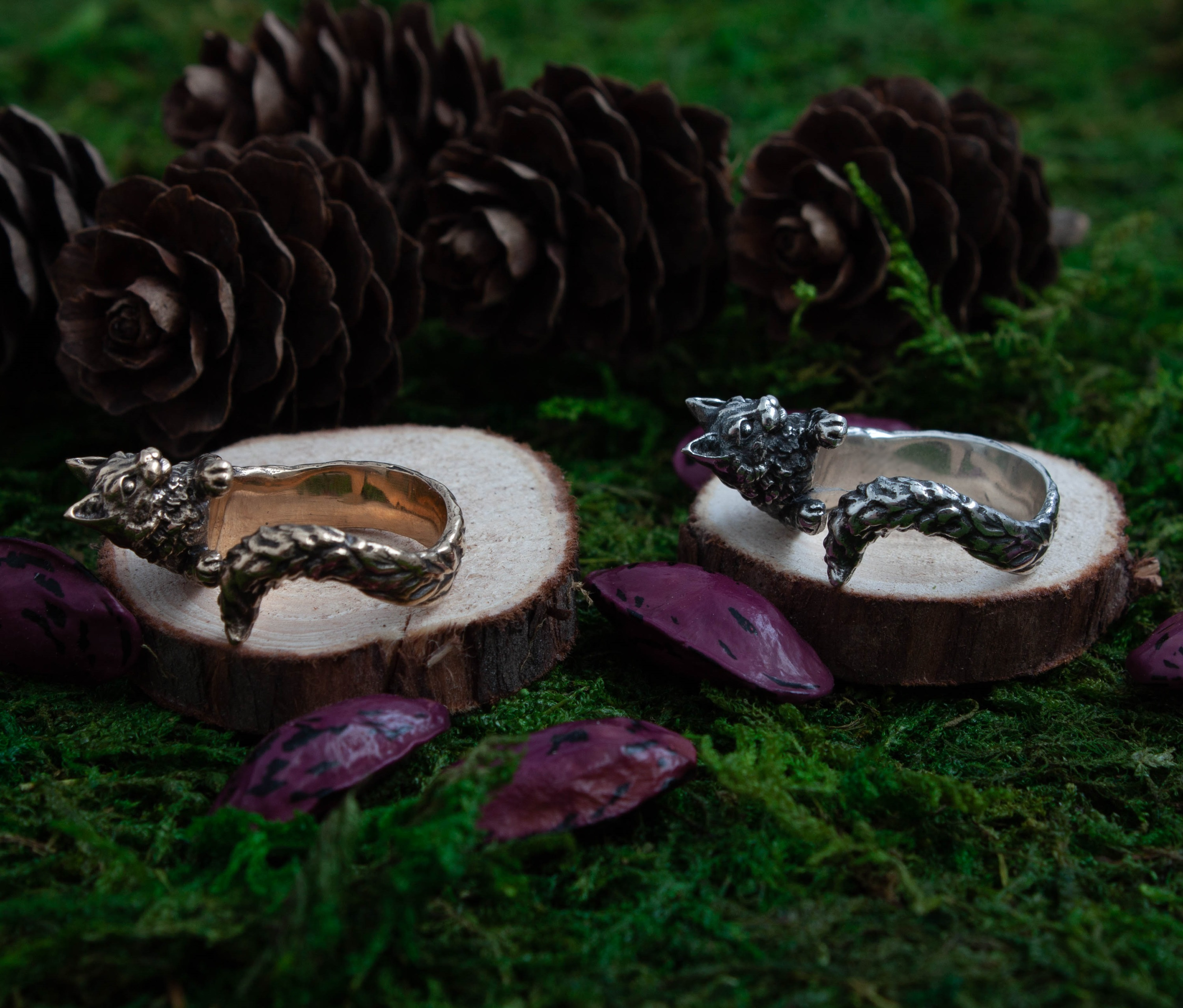 Collectibles Wise Cat Ring Jewellery Animals Hanmade