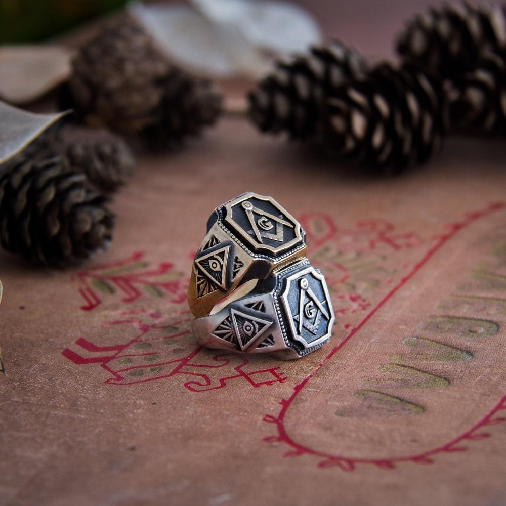 Merch Masons Eye Ring Crafted Handmade Mystic