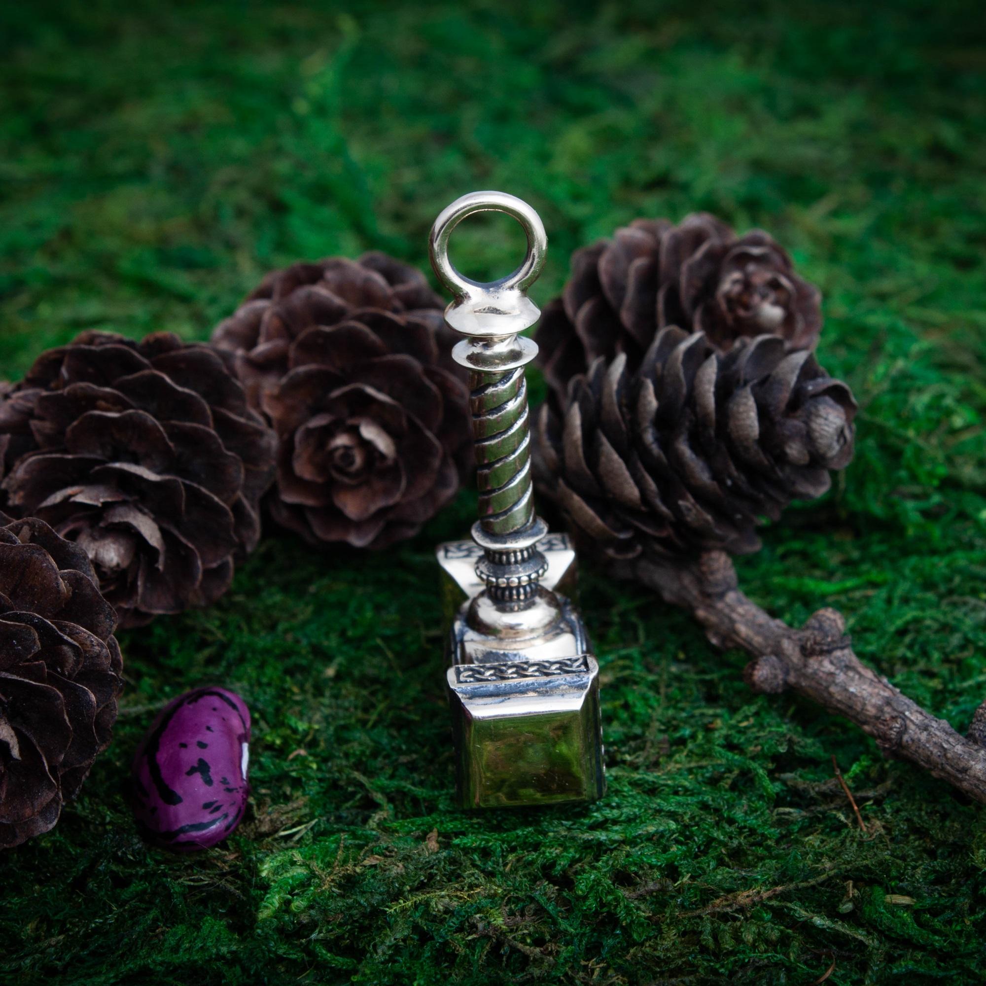 Merchandise Hammer Medallion Kolovrat Symbol Norse Mythology