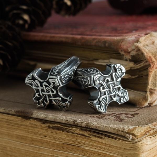 Merchandise Odin Cross Ring Celtic Knot Ring Mythology