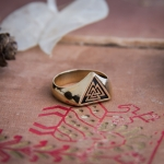 Collectibles Ancient Viking Valknut Ring Norse Mythology