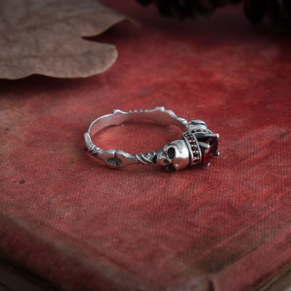 Collectibles Skull Gothic Ring Mystic Skeleton
