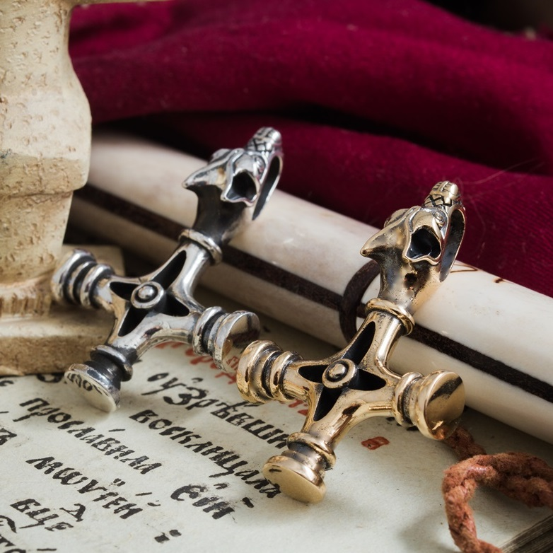 Collectibles Fenrir Pendant Viking Thor'S Cross Wolf'S Talisman