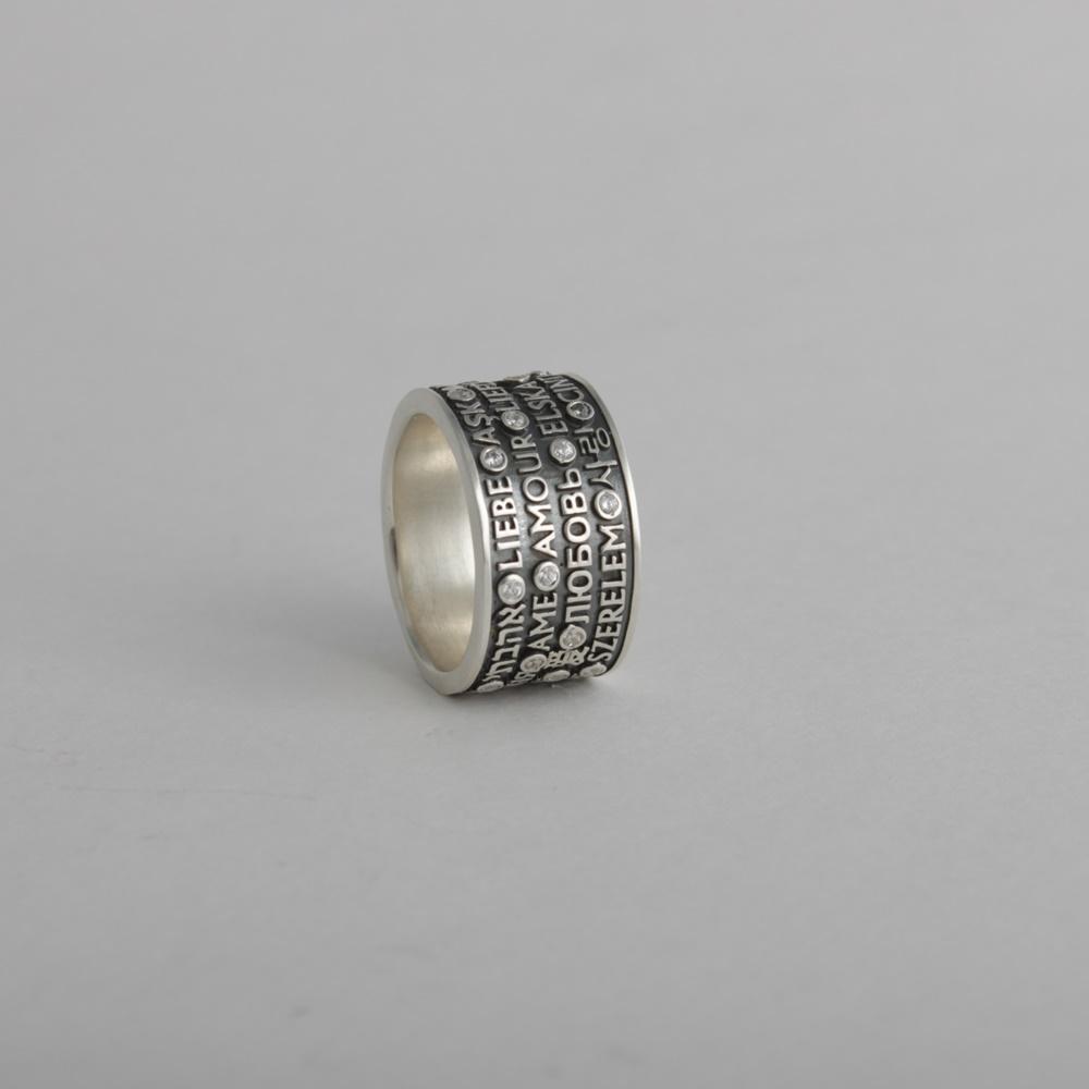Merchandise Ring Love Written In 25 Languages Romantic