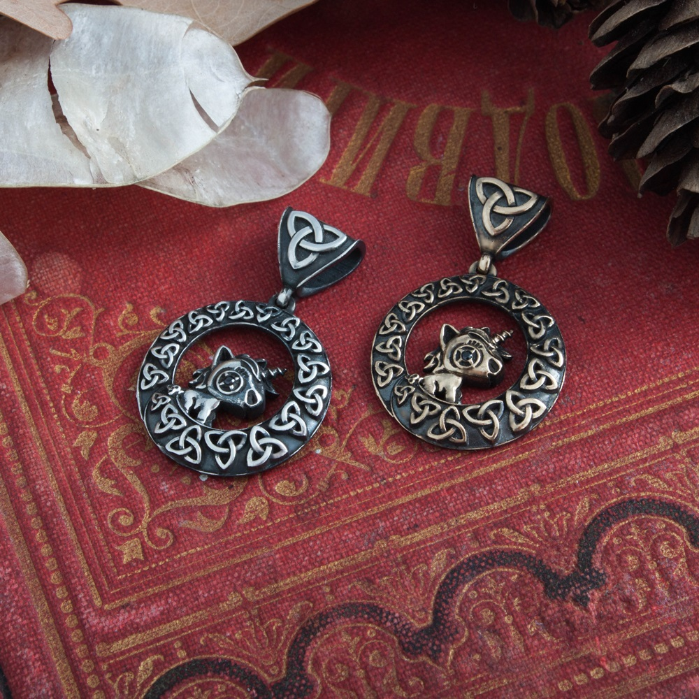 Collectibles Unicorn Medallion Trinity Knot Norse Mythology