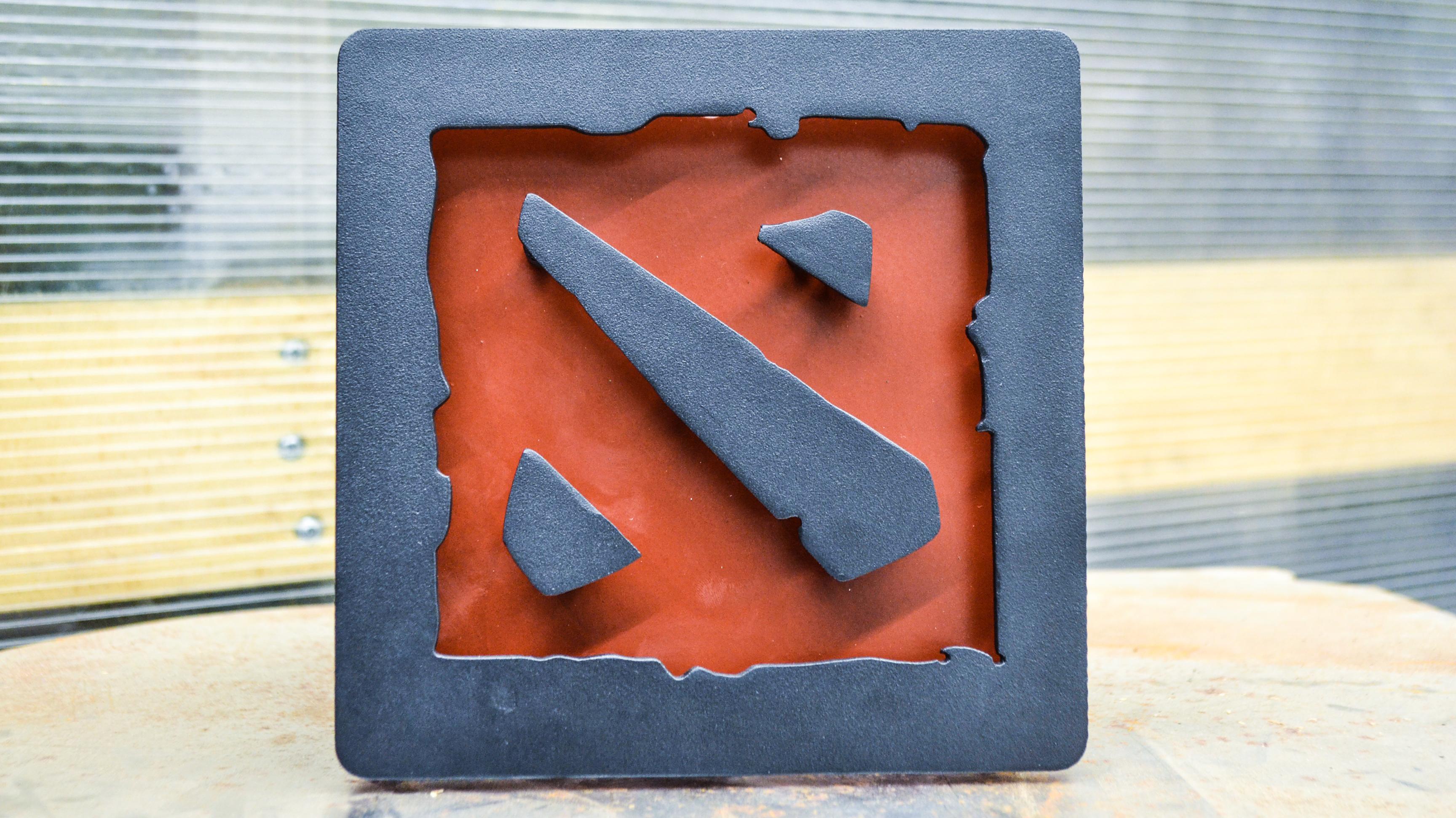 Merch Night Light Dota 2 Logo Red Emblem Lamp