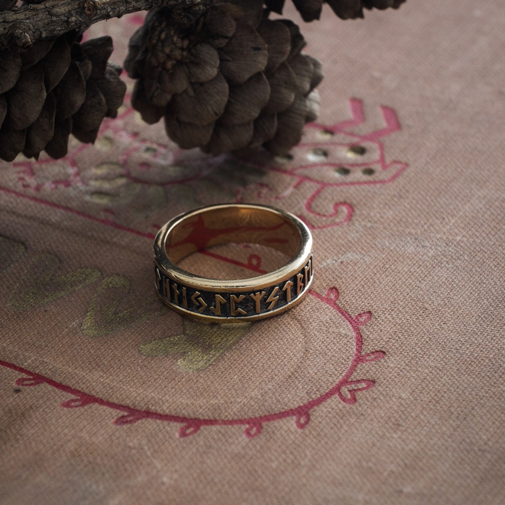 Collectibles Vikings Ring Runic Inscription Norse Mythology