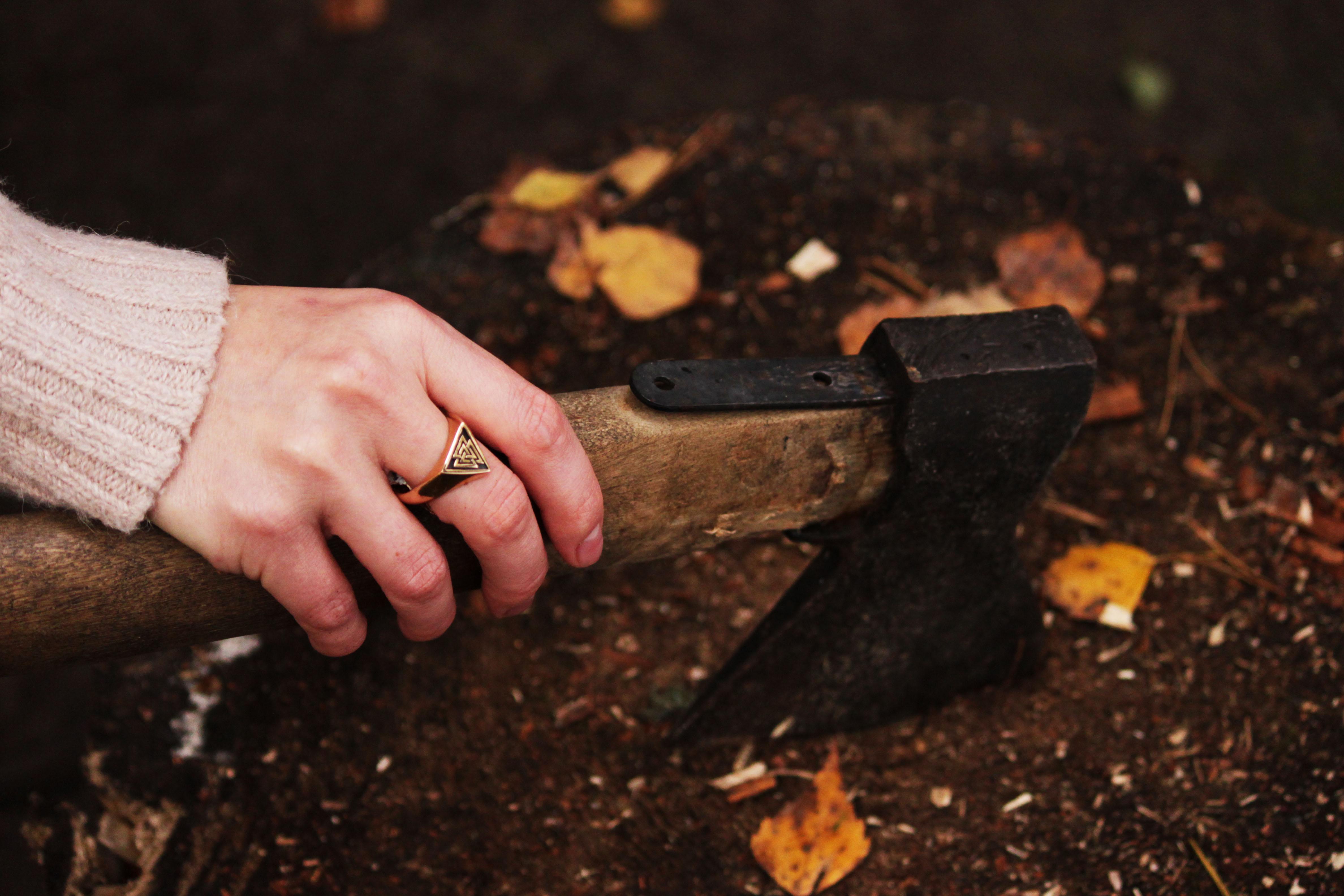 Merch Ancient Viking Valknut Ring Norse Mythology