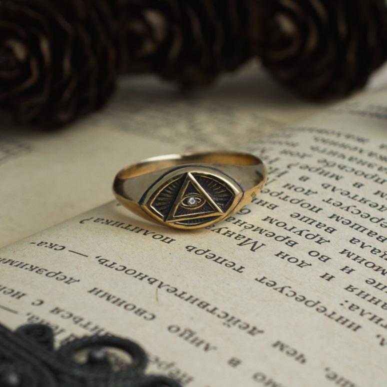 Merch Eye Of Providence Ring Mystic Jewellery