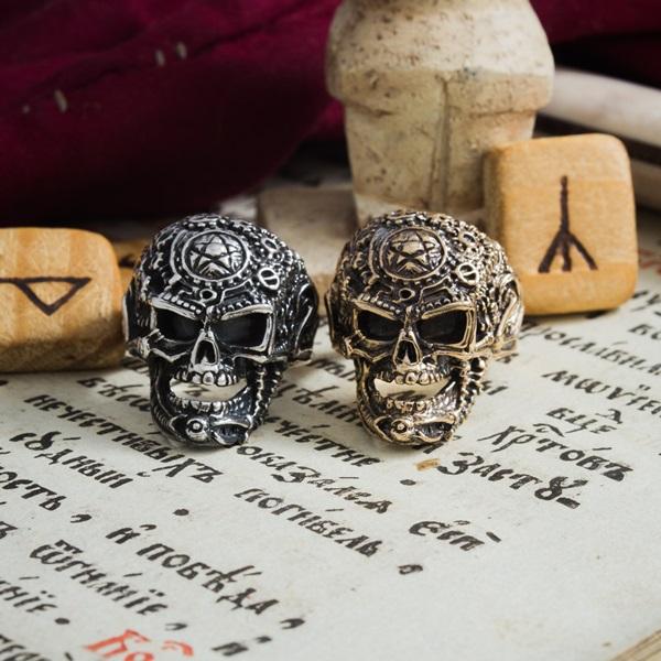 Collectibles Skull Ring Skeleton Mystic Handmade Craft