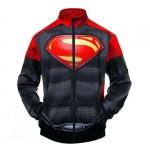 Merchandise Bomber Red Black Superman Logo Baseball Jacket