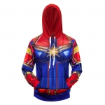 Collectibles Hoodie Captain Marvel Star Logo Full Print Jacket
