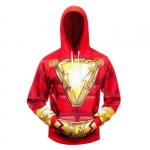 Collectibles Hoodie Shazam Red Emblem Hooded Sweatshirt