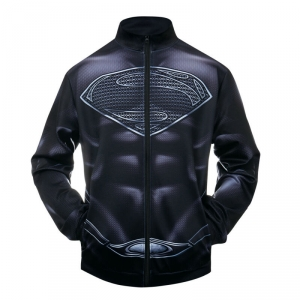 Merchandise Bomber Superman Black Logo Baseball Jacket