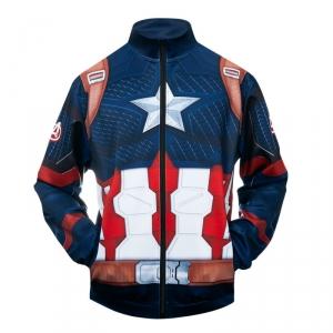 Merchandise Bomber Captain America 3D Logo Baseball Jacket